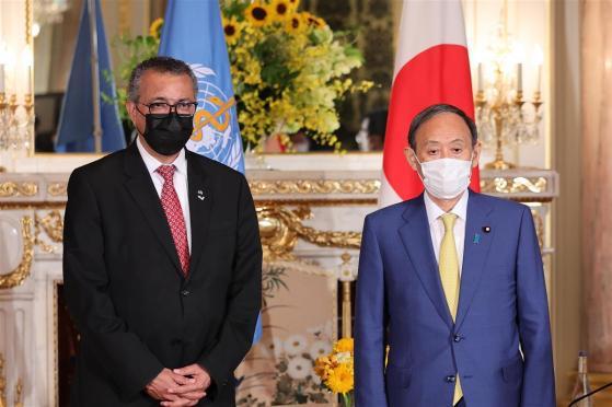 菅首相、WHO事務局長らと会談 五輪外交スタート